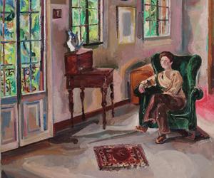Interior I, hacia 1968. Óleo sobre lienzo. 100 x 81. Pintura de Menchu Gal. Fundación Menchu Gal