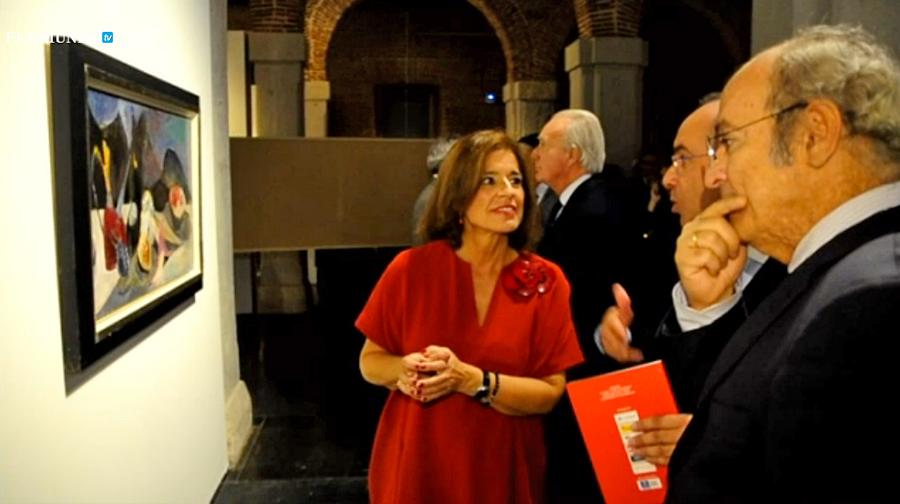Ana Botella, alcaldesa de Madrid, que acudió a la inauguración de la exposicion de los 25 años de el diario EL MUNDO