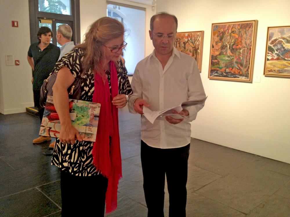 Gran éxito en la inauguración de la exposición de pintura de menchu Gal en el instituto Cervantes de Nueva York